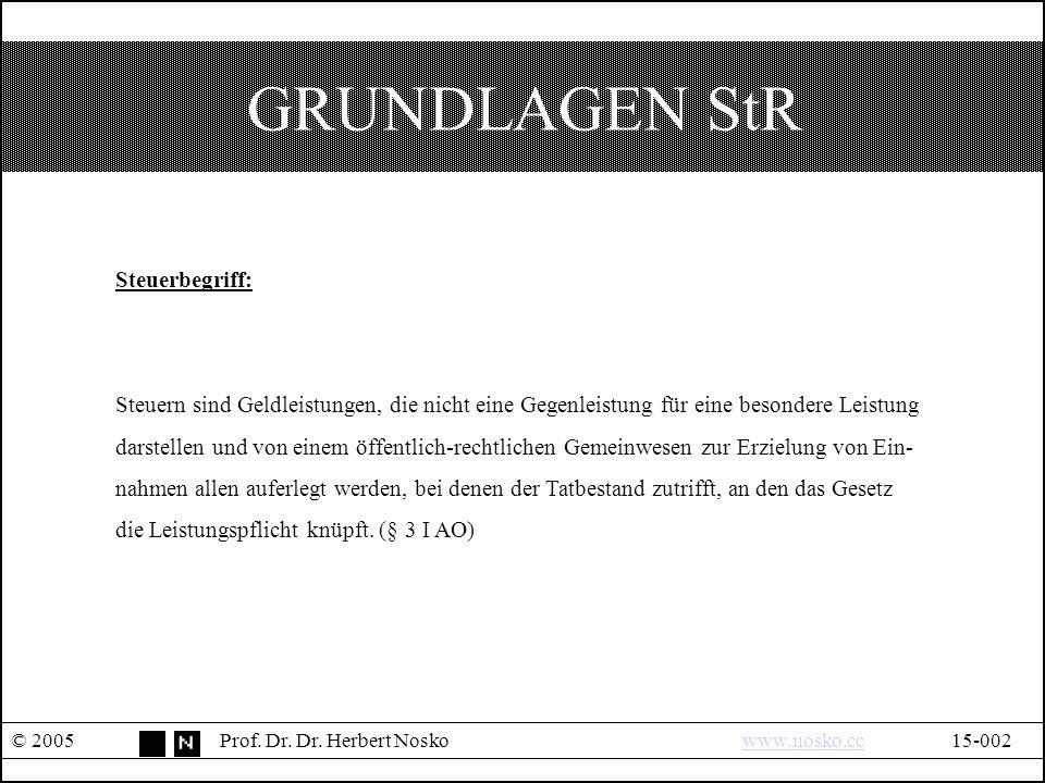 GRUNDLAGEN StR © 2005Prof. Dr. Dr.