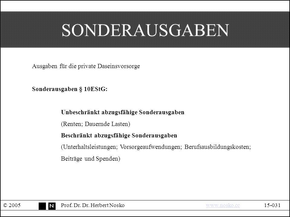 SONDERAUSGABEN © 2005Prof.Dr. Dr.
