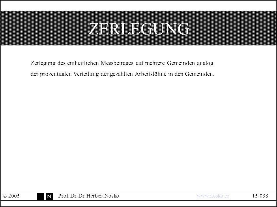 ZERLEGUNG © 2005Prof.Dr. Dr.