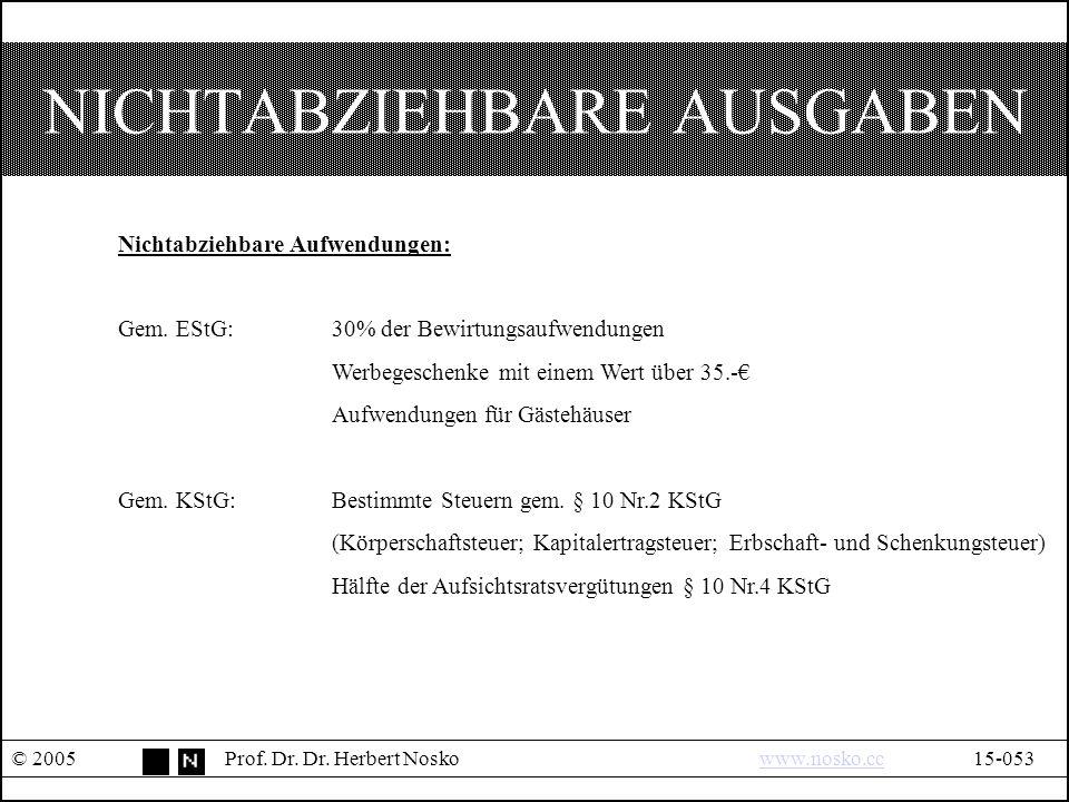 NICHTABZIEHBARE AUSGABEN © 2005Prof. Dr. Dr.
