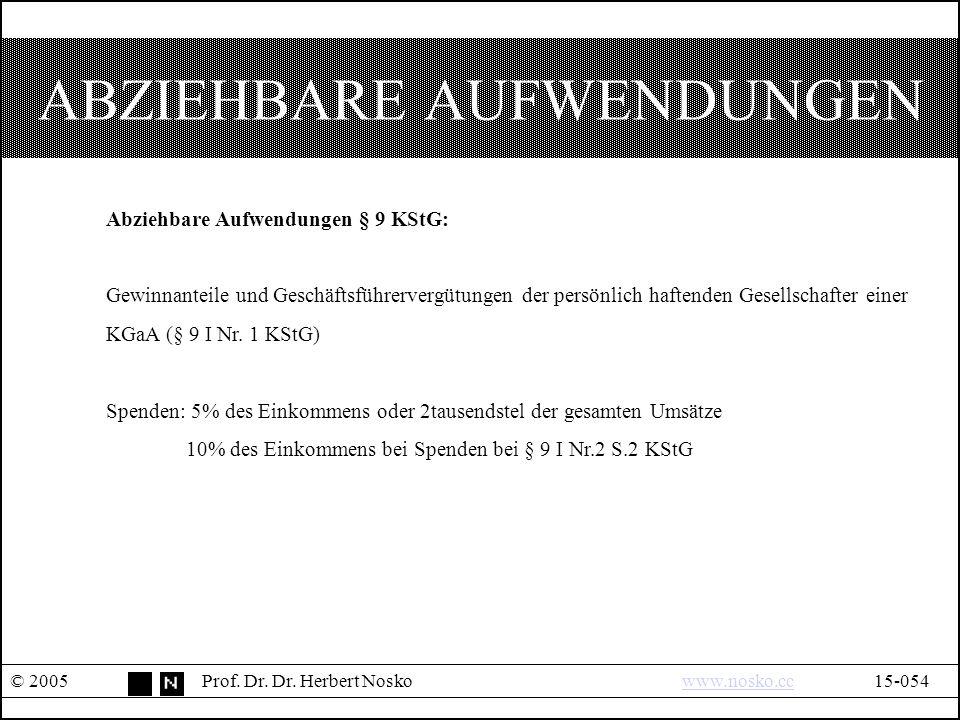 ABZIEHBARE AUFWENDUNGEN © 2005Prof. Dr. Dr.