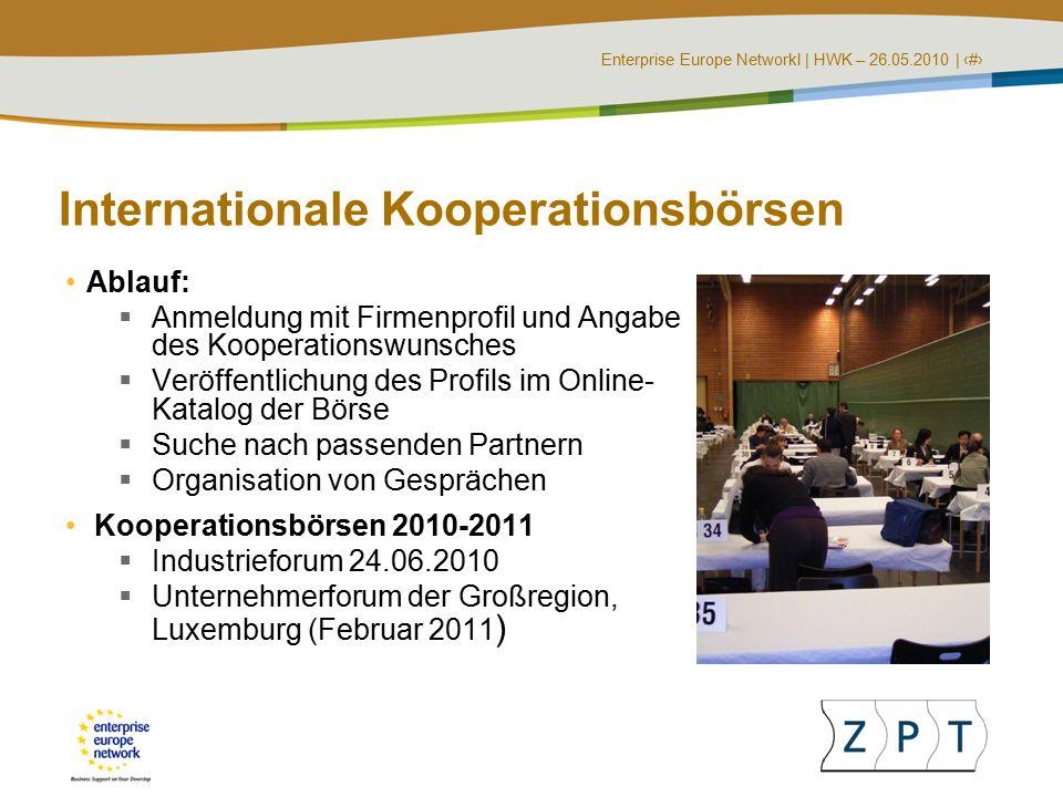 Enterprise Europe NetworkI   HWK – 26.05.2010   ‹#› Öffentliche Aufträge