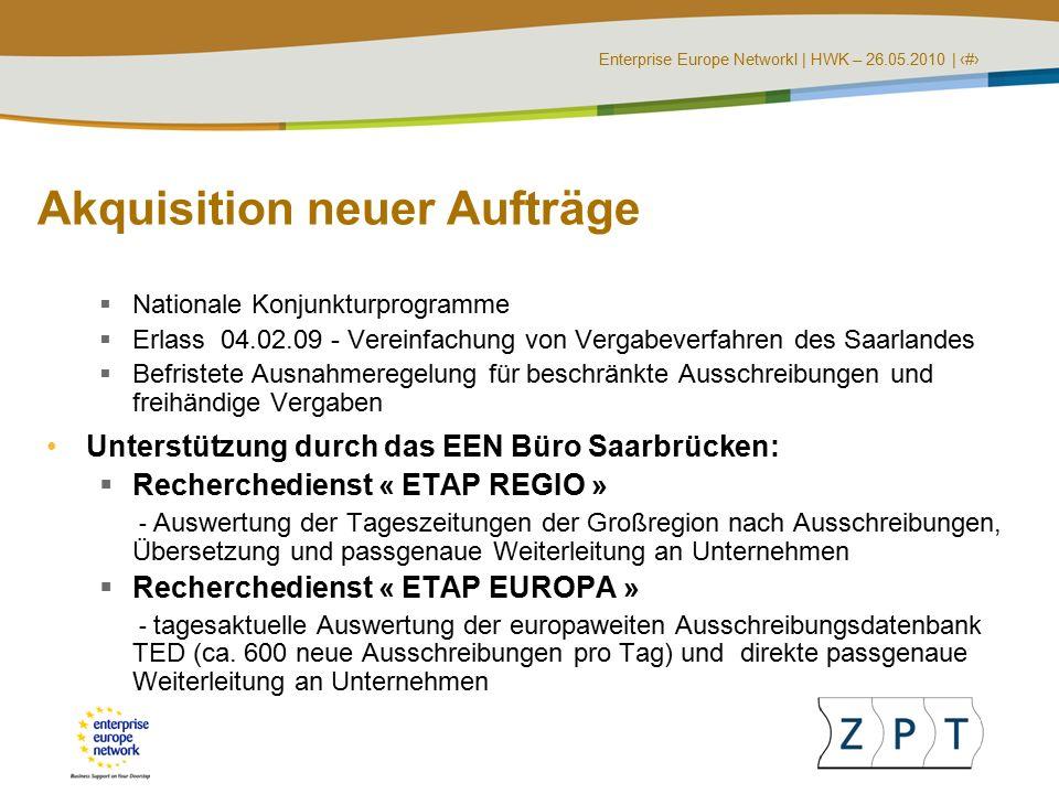 Enterprise Europe NetworkI   HWK – 26.05.2010   ‹#› Wo finde ich öffentliche Ausschreibungen.