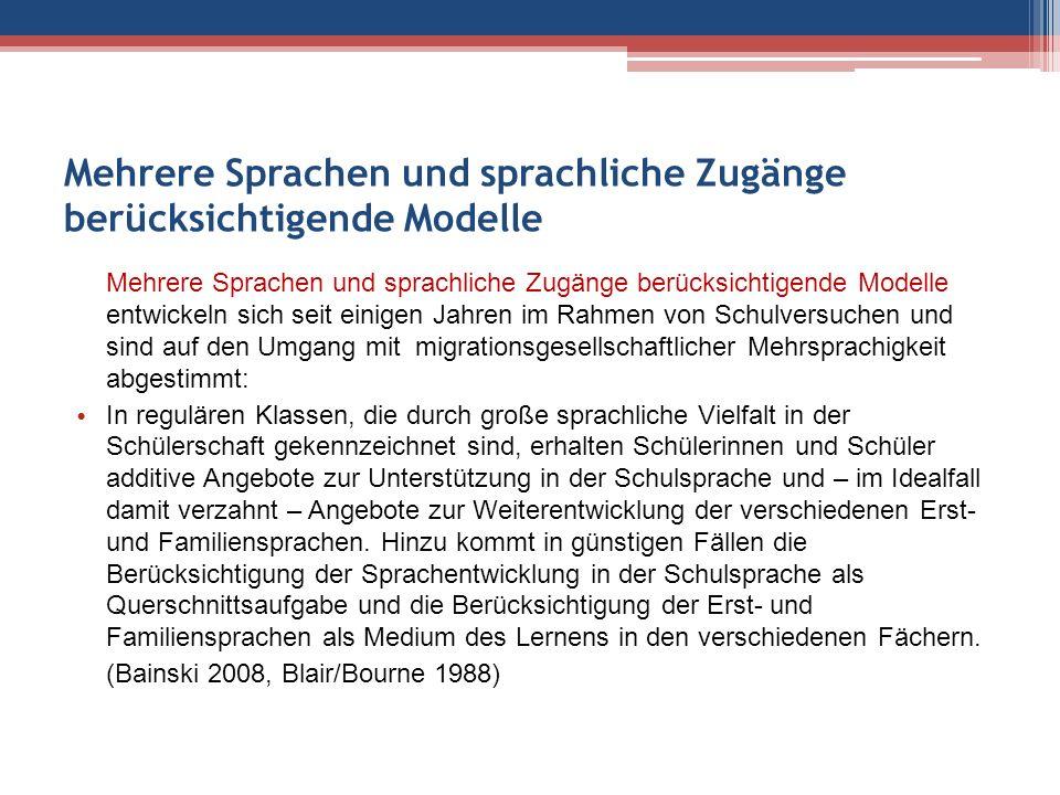 """Sprachliche Merkmale """"guter Schulen in multilingualen Umgebungen Empirische Grundlagen: 1."""