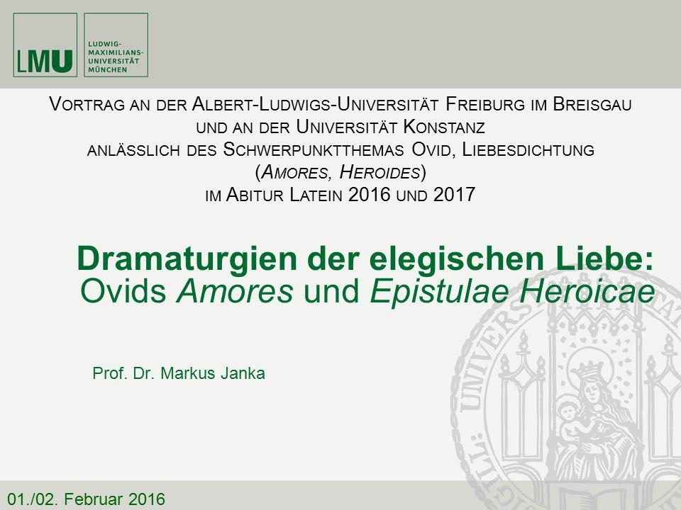 Dramaturgien der elegischen Liebe: Ovids Amores und Epistulae Heroicae Pieridum vates, non tua turba sumus.
