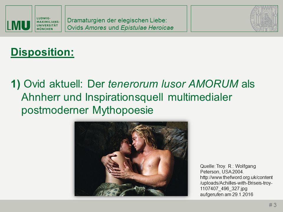 Dramaturgien der elegischen Liebe: Ovids Amores und Epistulae Heroicae an, quod ubique, tuum est.