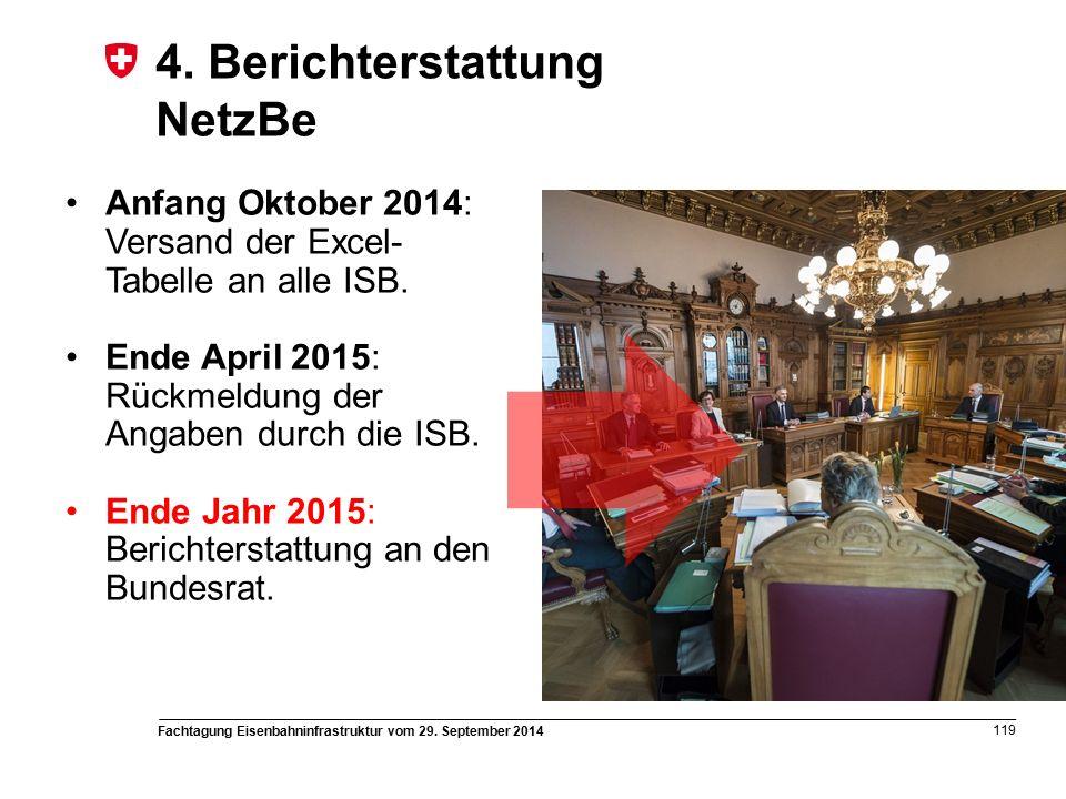 Fachtagung Eisenbahninfrastruktur vom 29. September 2014 119 4.