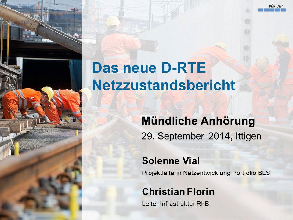 Anhörung RTE, Solenne Vial & Christian Florin   5 Netzzustandsbericht - Grundlage Wozu dient der Netzzustandsbericht.