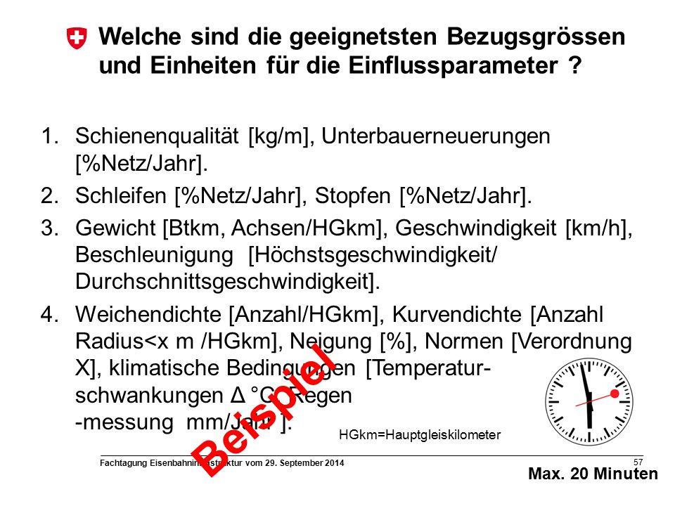 Fachtagung Eisenbahninfrastruktur vom 29. September 2014 57 Max.