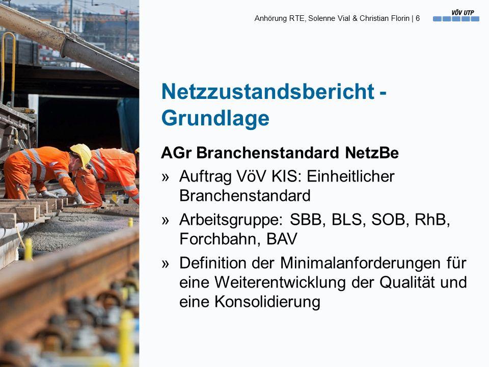 Anhörung RTE, Solenne Vial & Christian Florin   17 Begriffe [4] Der Ziel-Zustand (Wert) »Der «Ziel-Zustand» entspricht dem langfristig angestrebten, mittleren Zustand der Anlagen.