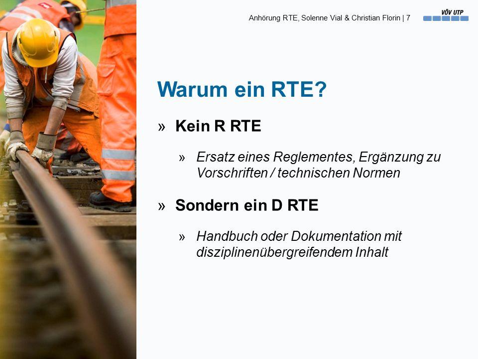 Anhörung RTE, Solenne Vial & Christian Florin   18 Begriffe [5] Der Bedarf (CHF) »Der «Bedarf» entspricht dem jährlichen finanziellen Aufwand, um den festgelegten Ziel-Zustand einer Anlage zu erhalten.