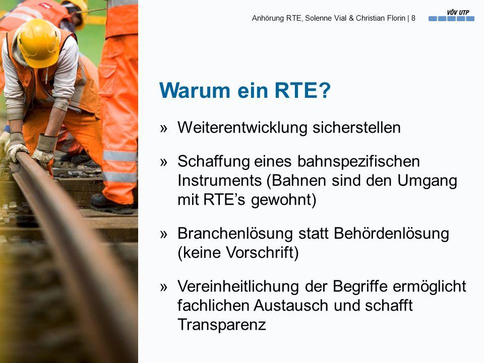 Anhörung RTE, Solenne Vial & Christian Florin   29 »Mit dem D RTE 29900 haben wir eine Branchenlösung, die in den nächsten Jahren weiterentwickelt werden kann.