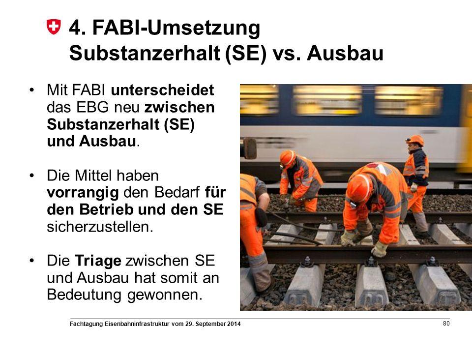 Fachtagung Eisenbahninfrastruktur vom 29. September 2014 80 4.