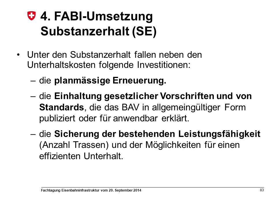 Fachtagung Eisenbahninfrastruktur vom 29. September 2014 83 4.