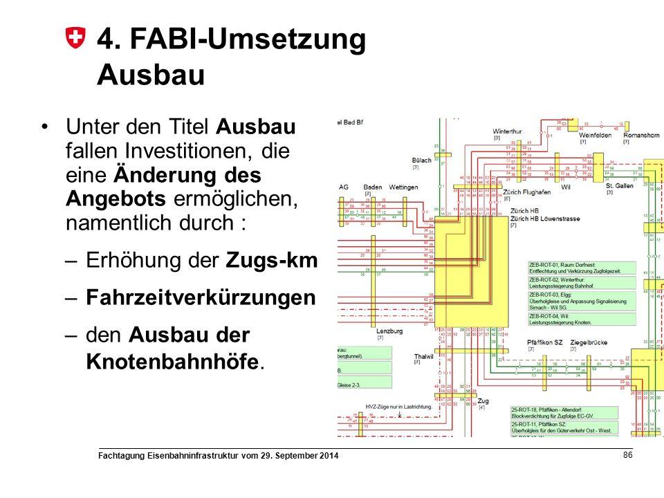 Fachtagung Eisenbahninfrastruktur vom 29. September 2014 86 4.