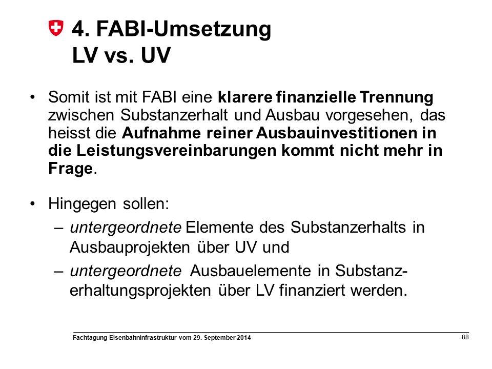 Fachtagung Eisenbahninfrastruktur vom 29. September 2014 88 4.