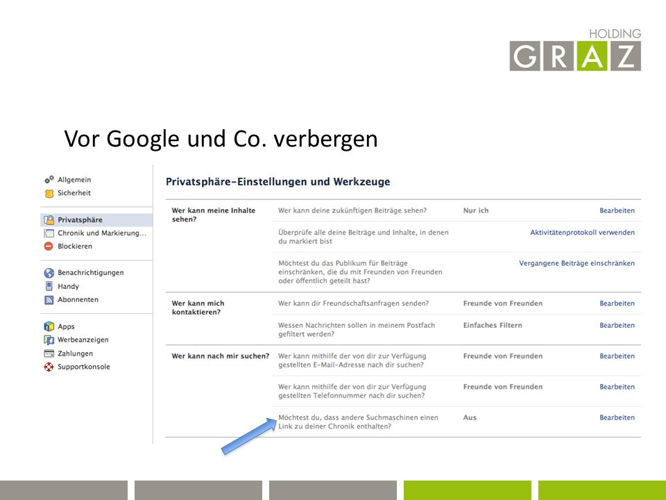 Vor Google und Co. verbergen