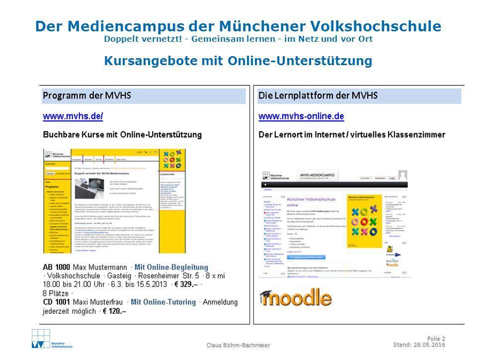 Der Mediencampus der Münchener Volkshochschule Doppelt vernetzt.