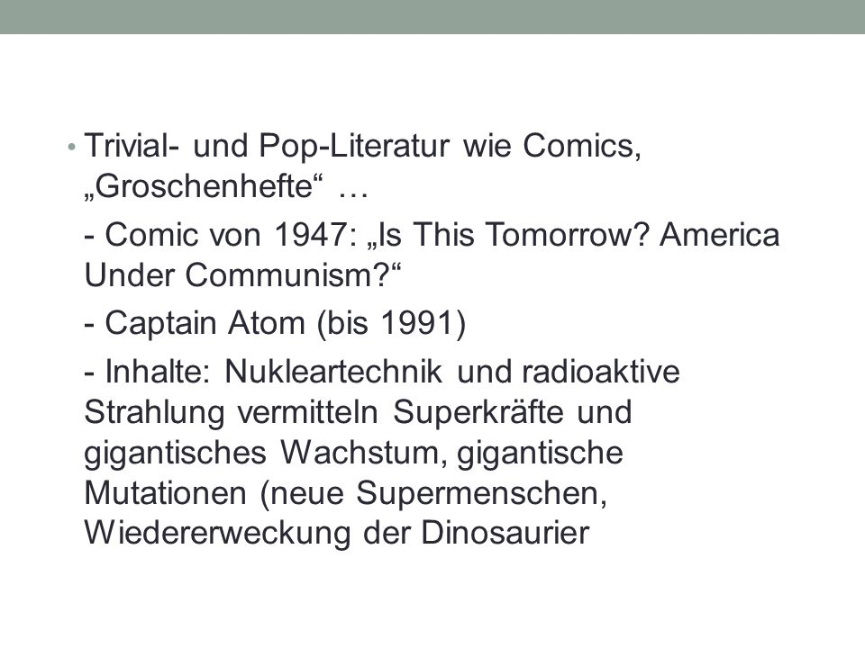 "Trivial- und Pop-Literatur wie Comics, ""Groschenhefte … - Comic von 1947: ""Is This Tomorrow."