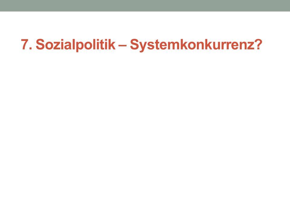 7. Sozialpolitik – Systemkonkurrenz?