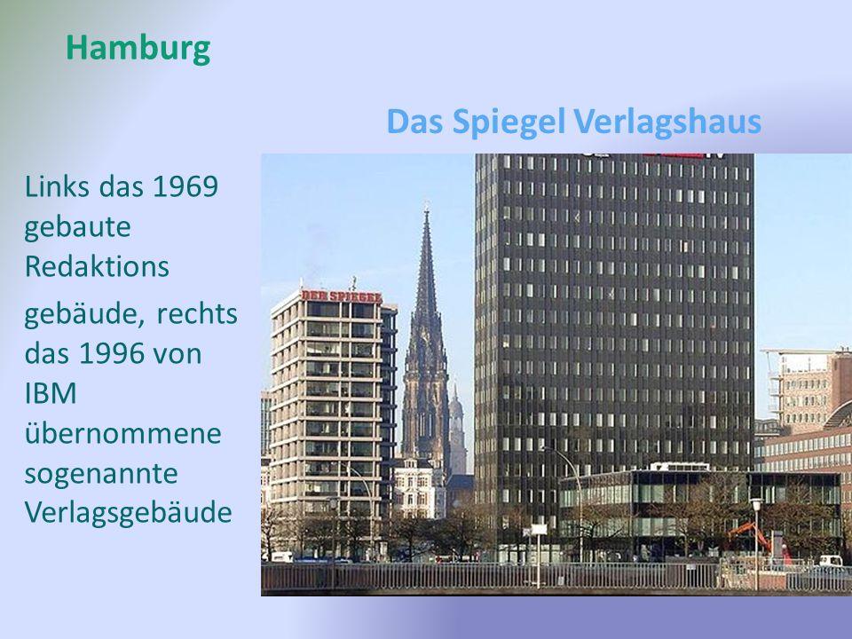Hamburg Links das 1969 gebaute Redaktions gebäude, rechts das 1996 von IBM übernommene sogenannte Verlagsgebäude Das Spiegel Verlagshaus