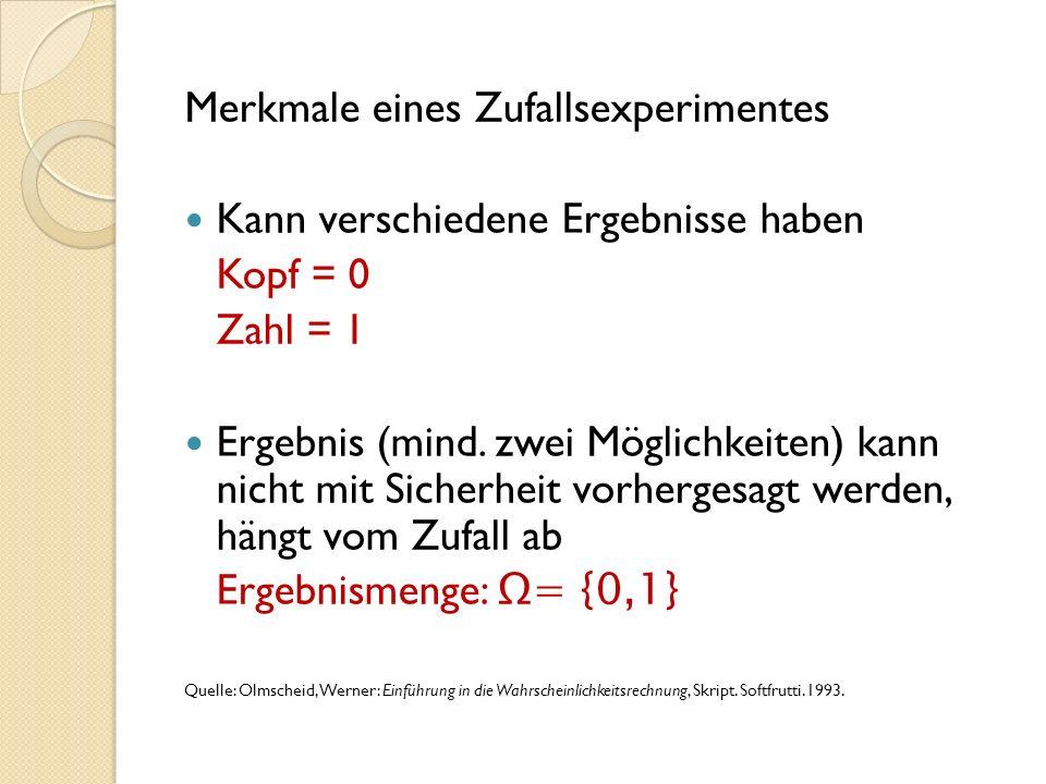 Spalte A und B: Um Zufallszahlen zu erzeugen, drücke nun edit (über w ) u um nach rechts zu Fill zu gelangen und drücke Fill über q Trage bei Formula zuerst das Zeichen = ein über L., drücke L 4, gehe zu RanInt# und drücke l Trage in die Klammern 0,1) ein und drücke l Trage nun bei CellRange A1:B100 ein und drücke zweimal l Nun wird in Spalte Zufallszahlen produziert und wir müssen nur noch ausrechnen, wie oft die 1 vorkommt.