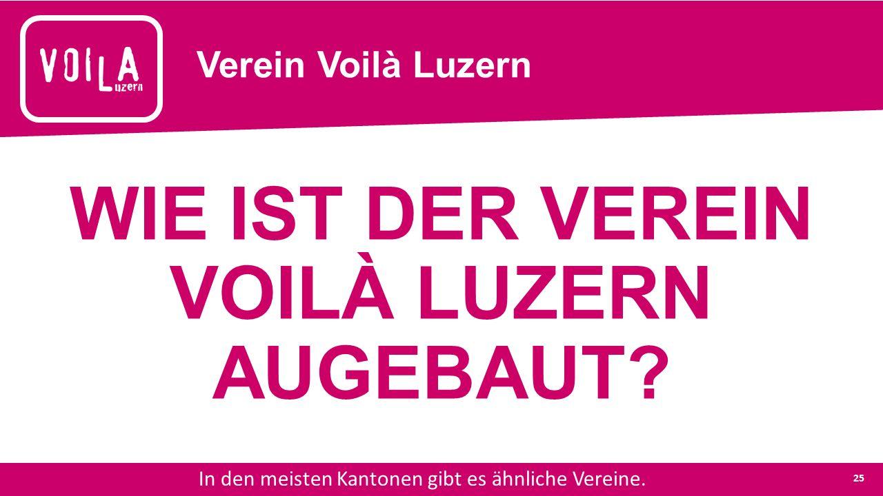 Verein Voilà Luzern In den meisten Kantonen gibt es ähnliche Vereine.
