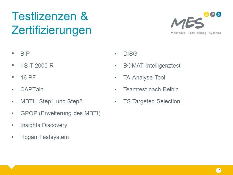 BIP I-S-T 2000 R 16 PF CAPTain MBTI, Step1 und Step2 GPOP (Erweiterung des MBTI) Insights Discovery Hogan Testsystem Testlizenzen & Zertifizierungen DISG BOMAT-Intelligenztest TA-Analyse-Tool Teamtest nach Belbin TS Targeted Selection 16