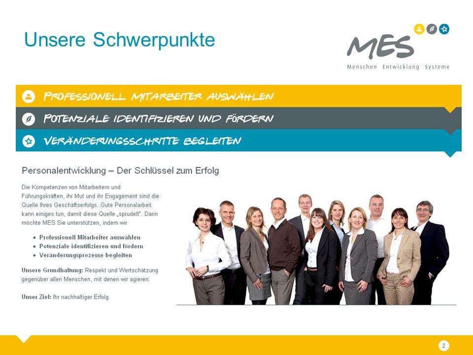 Nehmen Sie Kontakt mit uns auf: MES Menschen Entwicklung Systeme GmbH Büro Köln Theodor-Heuss-Ring 44 50688 Köln Fon +49 221 800620-0 Fax +49 221 800620-20 Büro Hamburg Schellerdamm 16 21079 Hamburg Fon +49 40 5229917-0 Fax +49 40 5229917-29 info@mes-partner.de www.mes-partner.de Bernd Wierzchowski Geschäftsführer Büro Hamburg Schellerdamm 16 21079 Hamburg Fon +49 40 5229917-0 Fax +49 40 5229917-29 wierzchowski@mes-partner.de 13