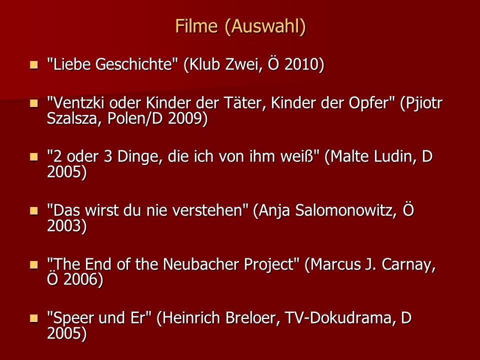 Filme (Auswahl)