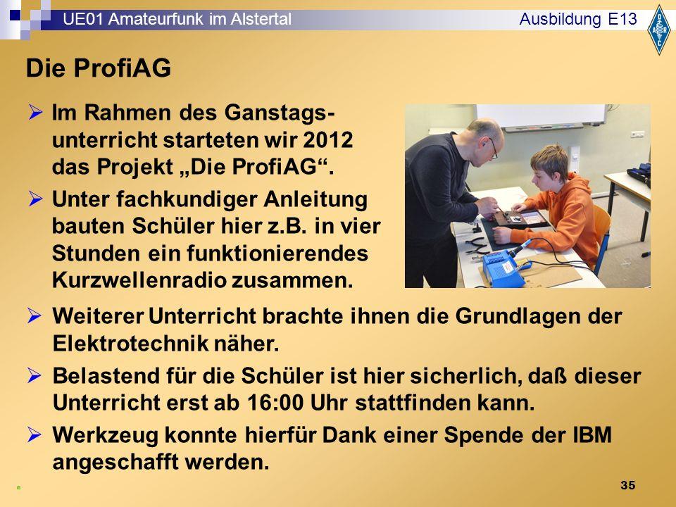 """35 Die ProfiAG  Im Rahmen des Ganstags- unterricht starteten wir 2012 das Projekt """"Die ProfiAG ."""