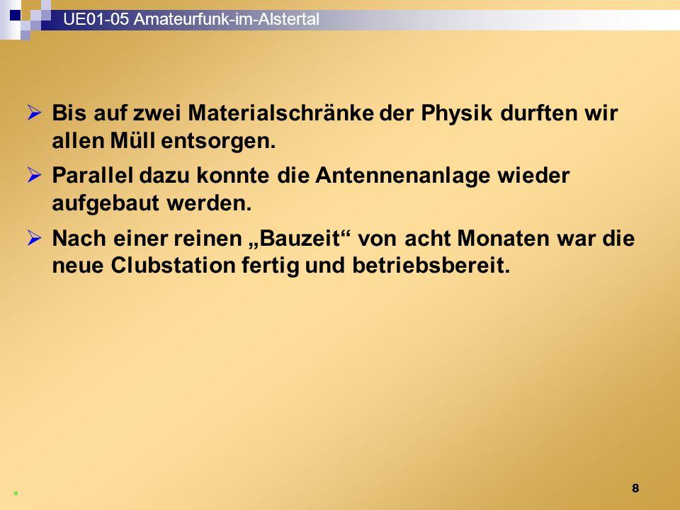9 UE01-05 Amateurfunk-im-Alstertal Funkstation und QSL-Kartenbord