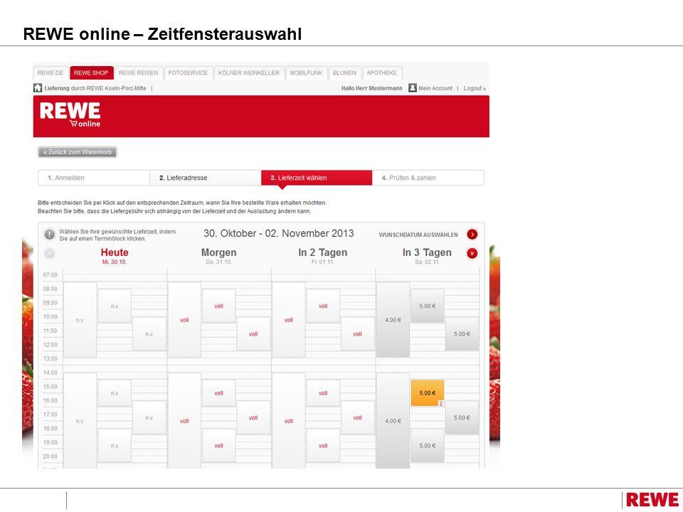 REWE online – Zeitfensterauswahl
