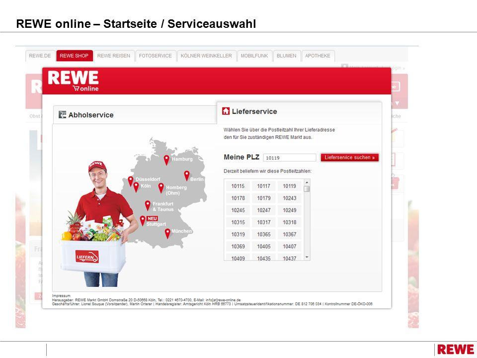 REWE online – Startseite