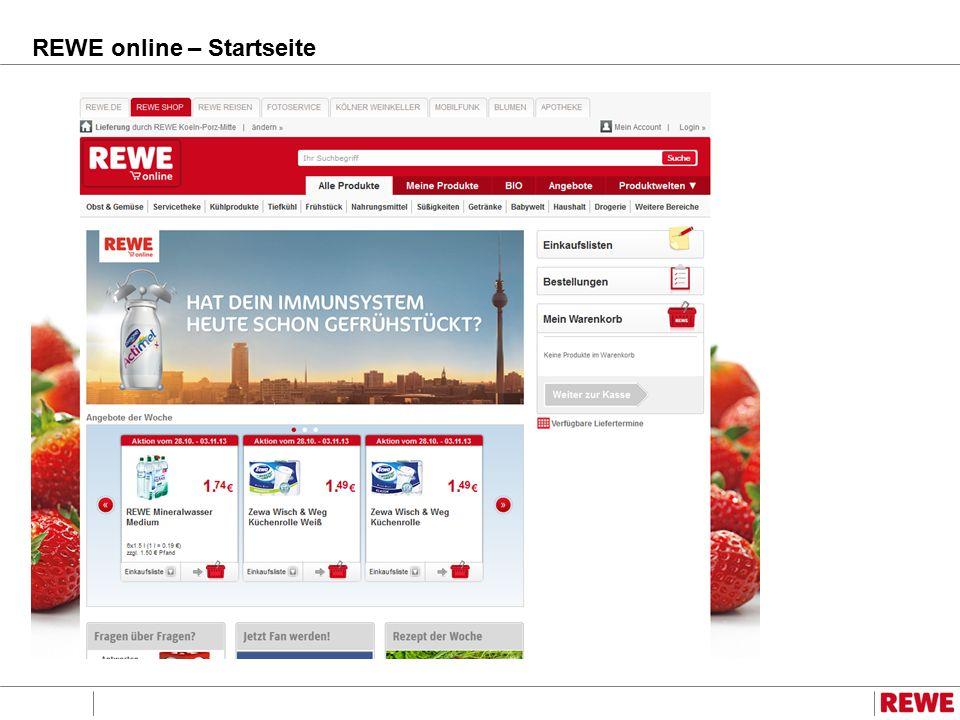 REWE online – Produktauswahl
