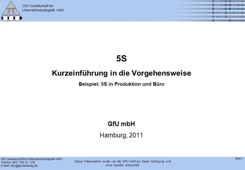 GfU Gesellschaft für Unternehmenslogistik mbH GfU Gesellschaft für Unternehmenslogistik mbH Telefon: 040 / 790 12 - 270 E-Mail: info@gfuhamburg.de Bild 1 Diese Präsentation wurde von der GfU mbH zur freien Verfügung und ohne Gewähr entwickelt.