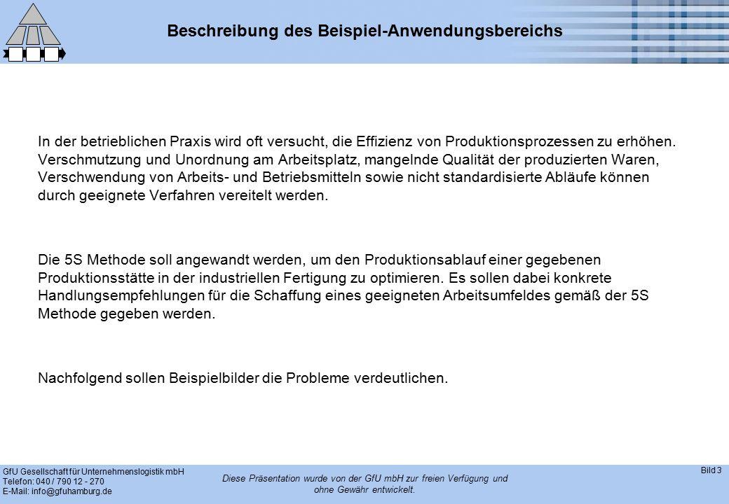 GfU Gesellschaft für Unternehmenslogistik mbH Telefon: 040 / 790 12 - 270 E-Mail: info@gfuhamburg.de Bild 3 Diese Präsentation wurde von der GfU mbH zur freien Verfügung und ohne Gewähr entwickelt.
