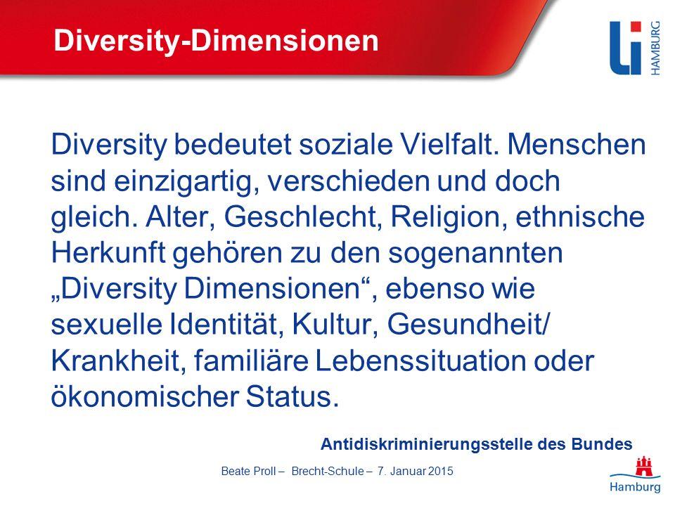 Diversity-Dimensionen Diversity bedeutet soziale Vielfalt.
