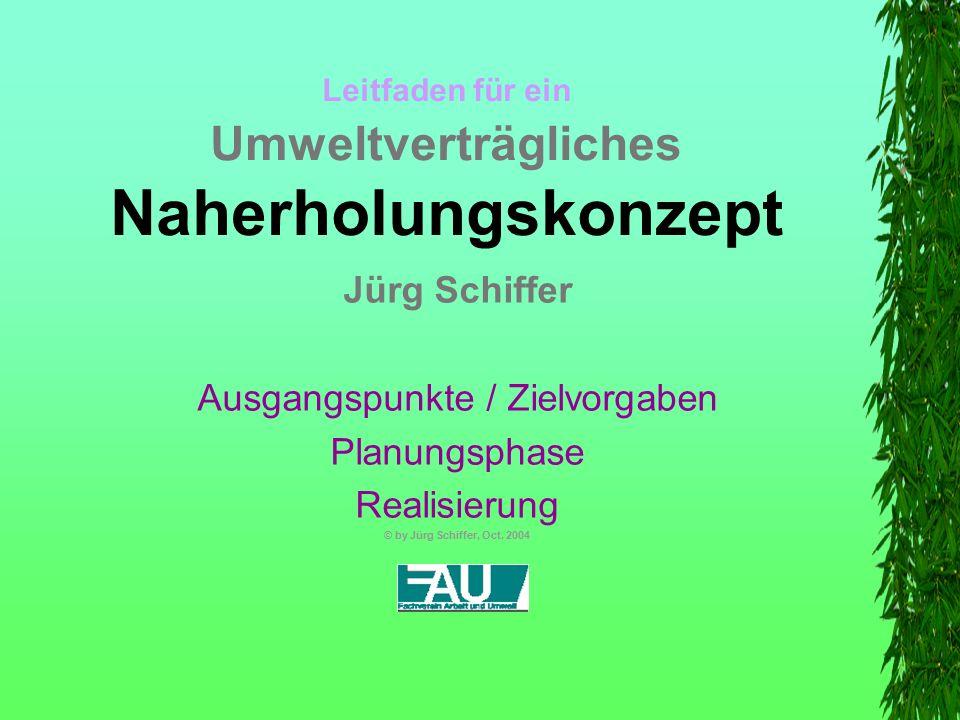 Dokumente  Naherholungsführer  Diverse Karten  Flyer  Broschüren  Plakate  Internetangebot  Evaluation / Erfolgskontrolle