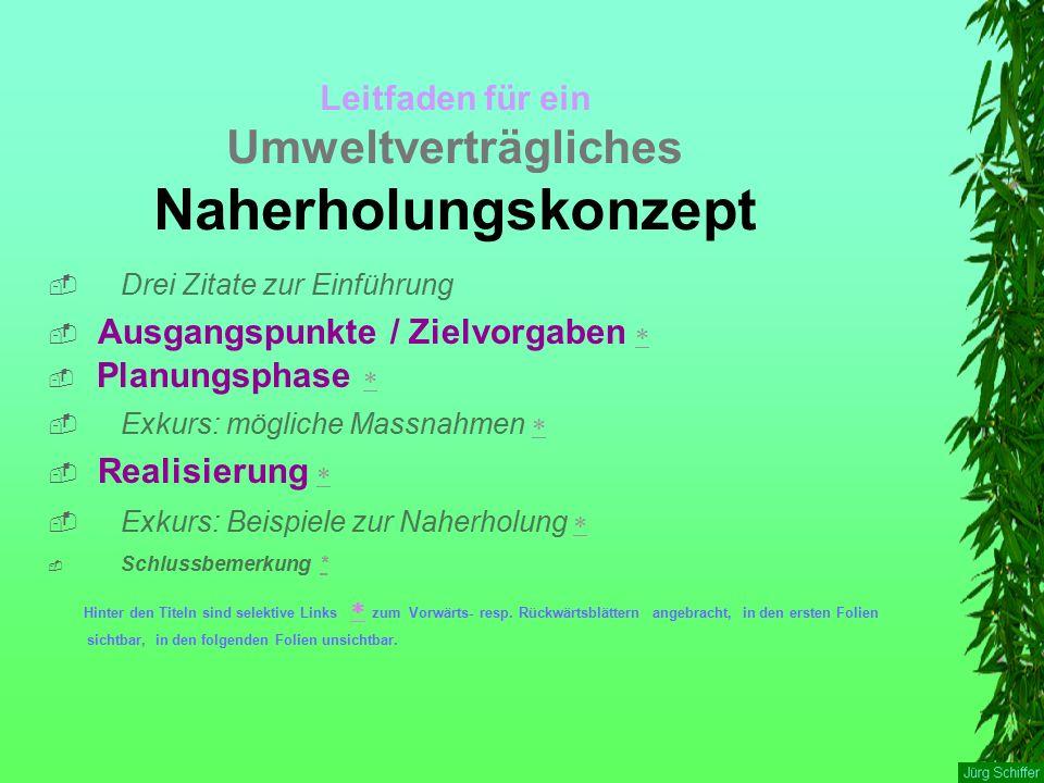 Exkurs Beispiele zur Naherholung  Beispiele aus Bern  Parks und Gärten in Hannover  Zürich Freiraumversorgungskarte  Schlussbemerkung