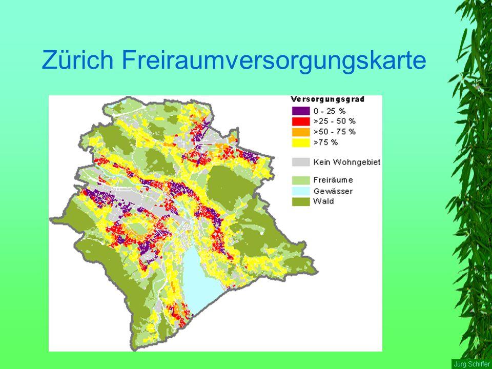Zürich Freiraumversorgungskarte