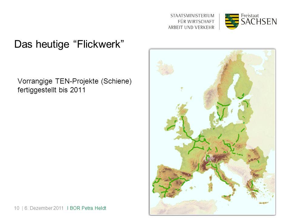 Vorrangige TEN-Projekte (Schiene) fertiggestellt bis 2011 | 6.