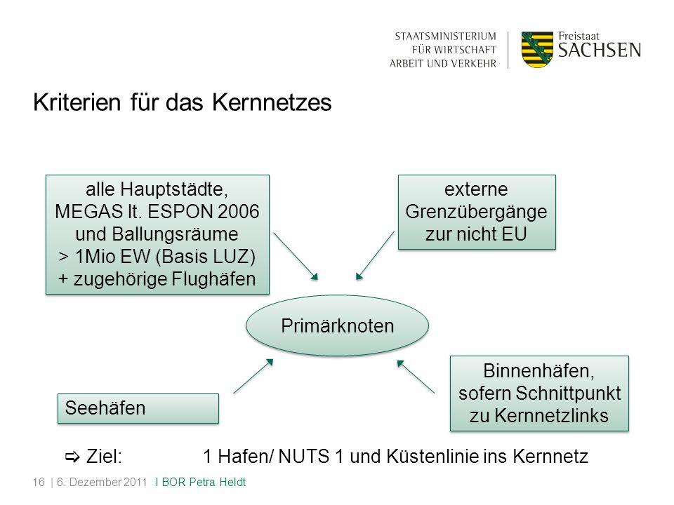 Kriterien für das Kernnetzes | 6.