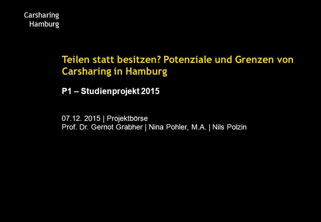Carsharing Hamburg Teilen statt besitzen.