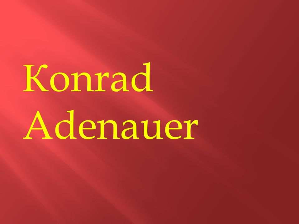 К onrad Adenauer