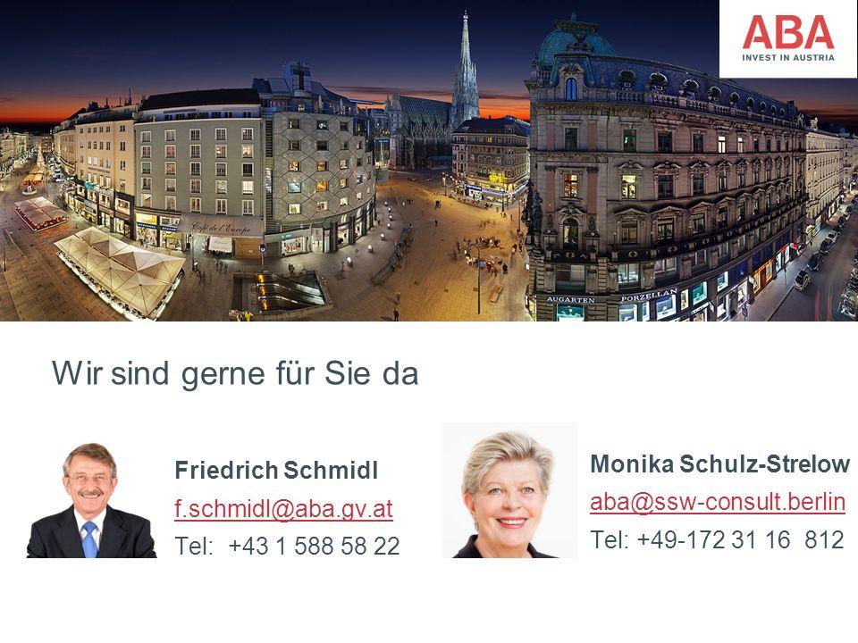 FünfteEbene Wir sind gerne für Sie da Monika Schulz-Strelow aba@ssw-consult.berlin Tel: +49-172 31 16 812 Friedrich Schmidl f.schmidl@aba.gv.at Tel: +