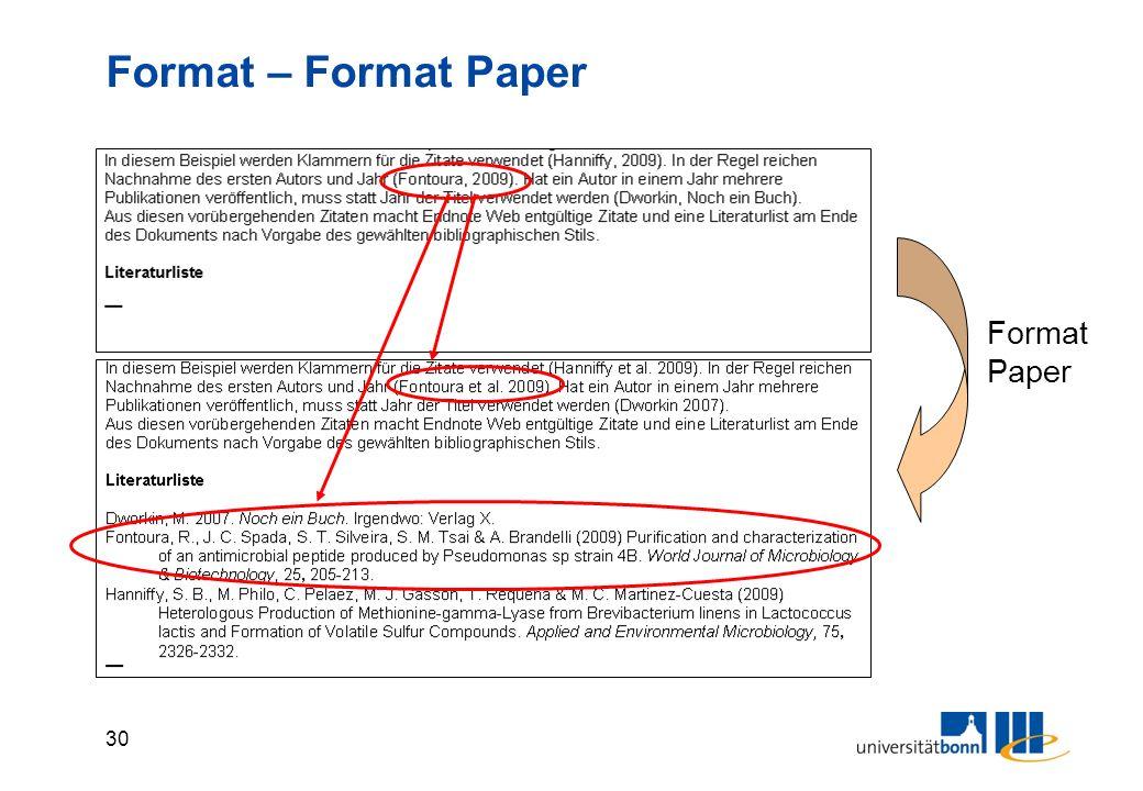 30 Format – Format Paper Format Paper