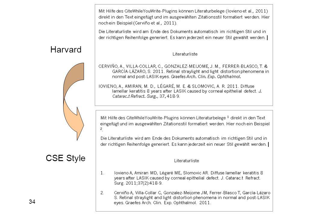 34 Harvard CSE Style