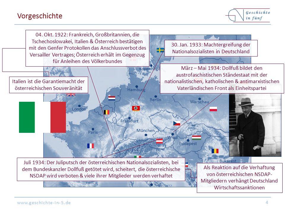 www.geschichte-in-5.de Berlin London Paris München Warschau Kopenhagen Wien Bukarest Frankfurt Hamburg Riga Budapest Rom Vorgeschichte 4 04.