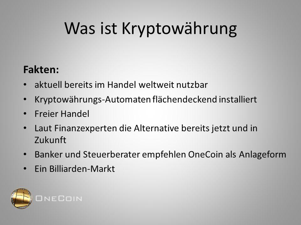 Warum Onecoin.
